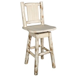 Prasad 24 Swivel Bar Stool Loon Peak