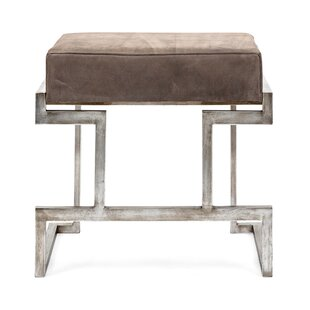 Harcourt Suede Metal Bench by Nakasa