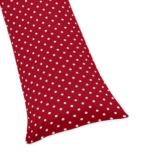 Polka Dot Ladybug Body Pillow Case