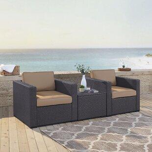 Dinah 3 Piece Conversation Set with Cushions