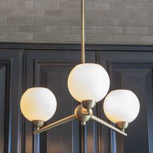 Wrought Studio Eveleth 3-Light Sputnik Chandelier