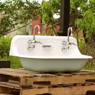 High Back 36 Antique Inspired Kohler Farm Sink Incarnadine Red Cast Iron Porcelain Trough Sink Package Kohler