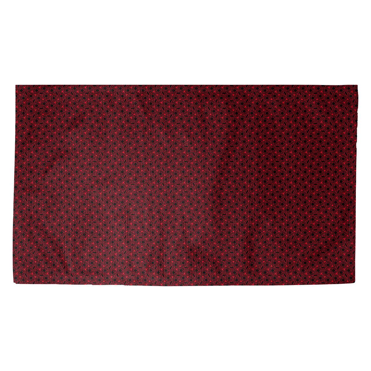 Latitude Run Avicia Hexagonal Lattice Red Black Area Rug Wayfair