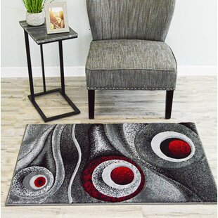 Inexpensive Mccampbell Red/Gray/Black Area Rug ByIvy Bronx