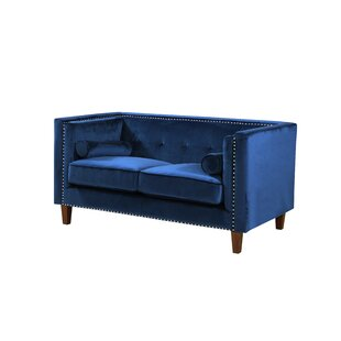 Kittleson Classic Nailhead Chesterfield Loveseat