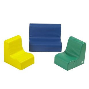 Reviews 3 Piece Little Tot Contour Soft Seating Set ByChildren's Factory