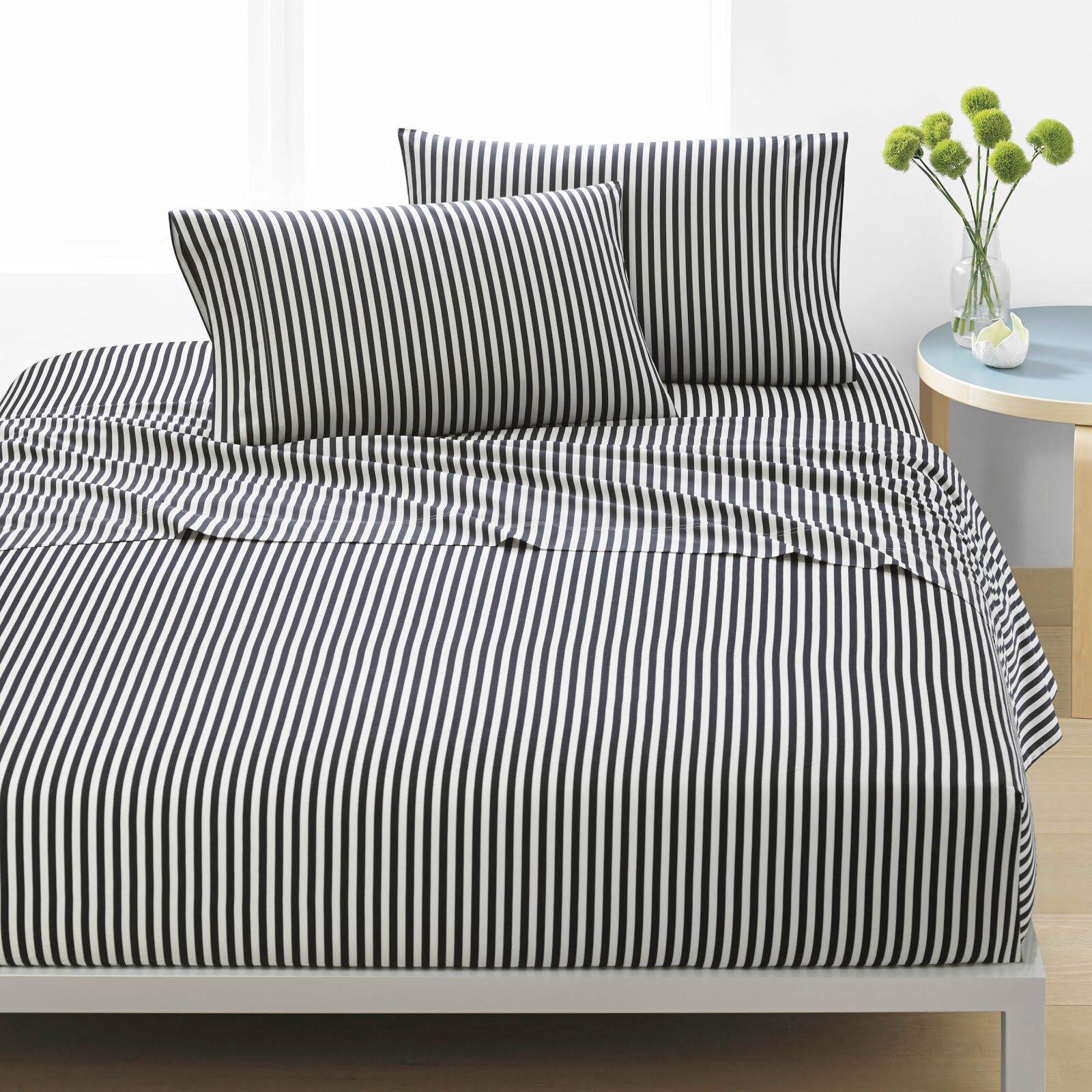 Ajo 200 Thread Count Striped 100 Cotton Sheet Set Reviews Allmodern