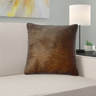 Lysette Leather Throw Pillow