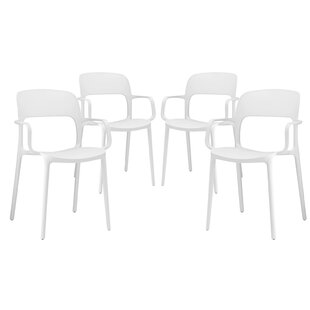 Bohr Arm Chair (Set of 4) by Wrought Studio