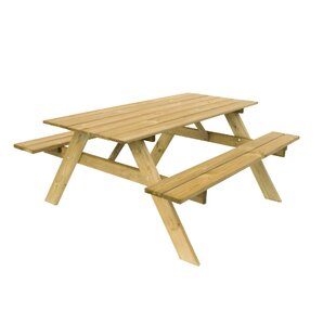 Kaylin Wooden Picnic Bench By Sol 72 Outdoor