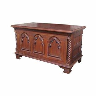 Gothic Wooden Blanket Box By Astoria Grand