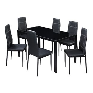 Hackler 7 Piece Dining Set by Ebern Designs