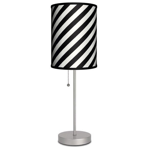 Ebern Designs Pantano Diagonal Stripes 19 Table Lamp Wayfair
