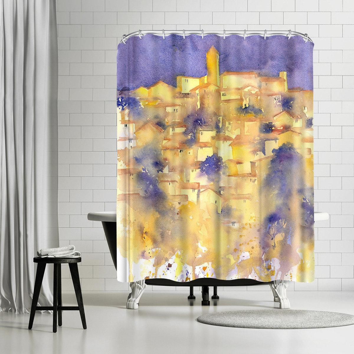 East Urban Home Rachel McNaughton Splashy Tuscany Shower Curtain ...