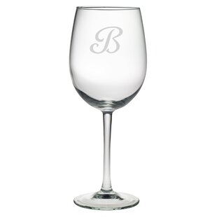 Monogram 19 oz. Stemmed Wine Glass (Set of 4)