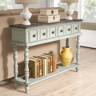 Lark Manor Preiss Two Toned Weathered Console Table