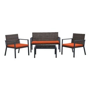Jarin 4 Seater Rattan Sofa Set By 17 Stories