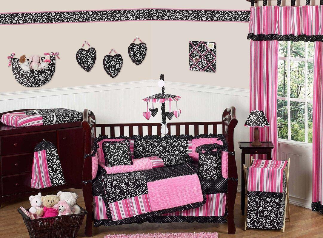 Madison 9 Piece Crib Bedding Set Paris