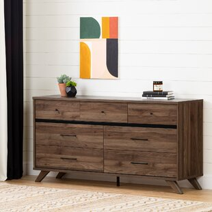 Flam 7 Drawer Double Dresser