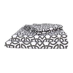 Teegarden Vintage Exclusive Designer 400 Thread Count Eclectic 100% Cotton Sheet Set (Set of 4)