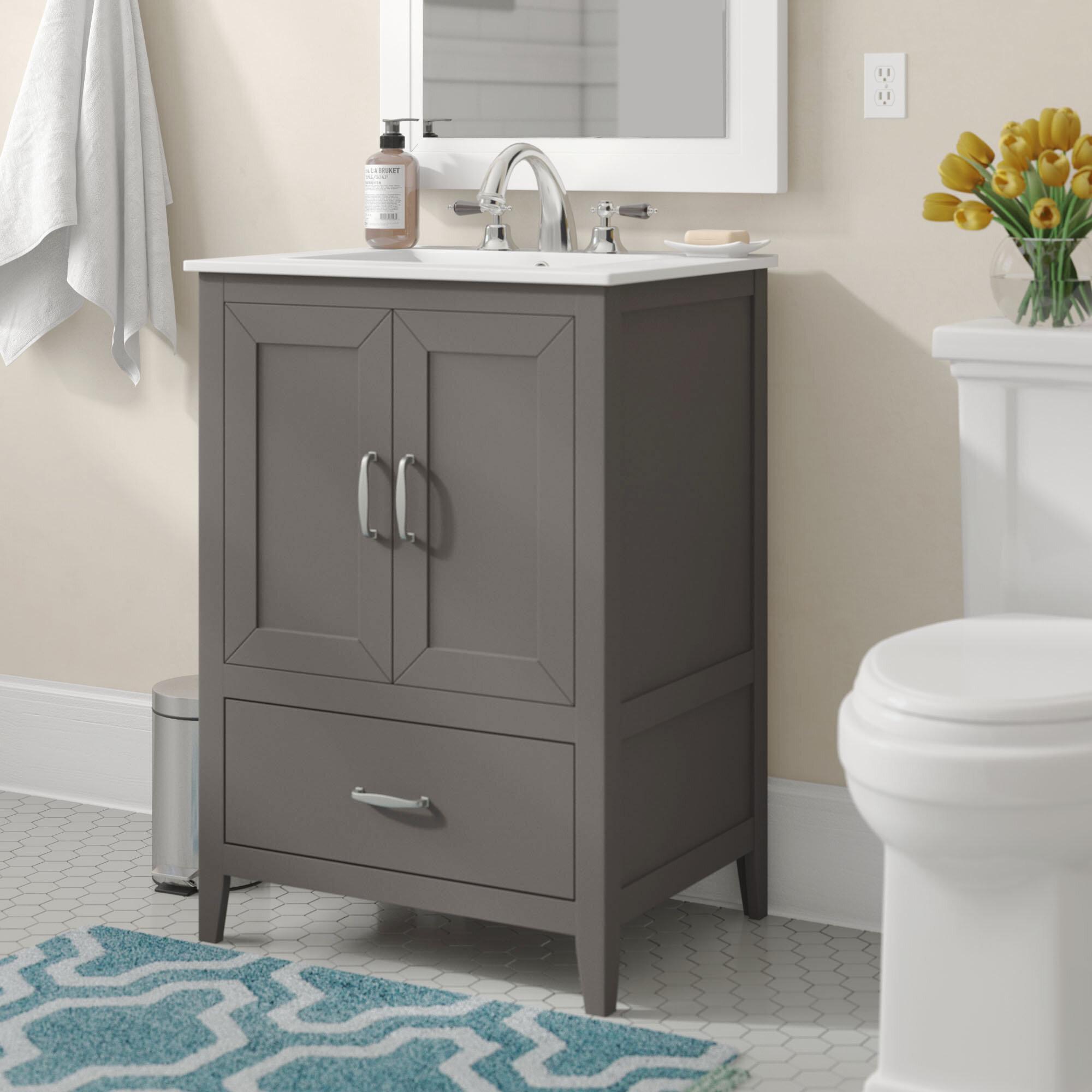 "Charlton Home® Crist 8"" Single Bathroom Vanity Set & Reviews"