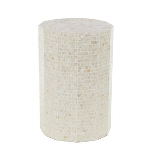 Fixaris Natural Faceted End Table by Highland Dunes