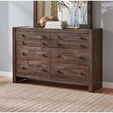 Clemente 8 Drawer Double Dresser with Mirror by Loon Peak®