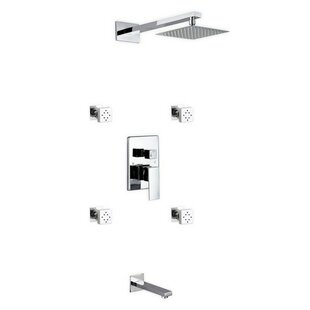 Rebrilliant Cahoon Dual Function Rain Shower Head Complete Shower System