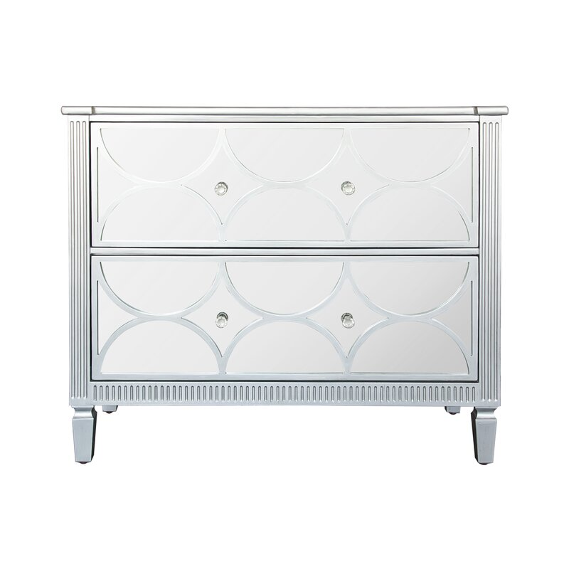 Naber 2 Drawer Mirrored Accent Chest