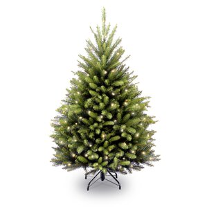 fir 45 hinged green artificial christmas tree with 450 clear lights - Full Christmas Tree