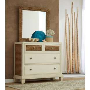 Bridge Hampton Seagrass 3 Drawer Dresser with Mirror by Panama Jack Home
