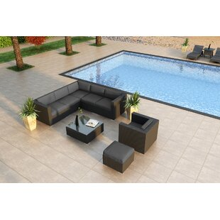 Azariah 8 Piece Sunbrella Sectional Set with Cushions