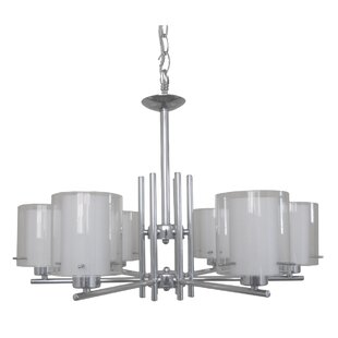 Dominic 6-Light Shaded Chandelier by Whitfield Lighting