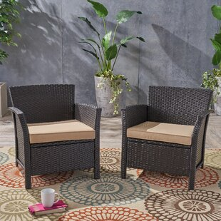 Mullenax Patio Chair with Cushion (Set of 2)
