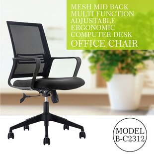 Compare prices Koepp Mid Back Ergonomic Mesh Office Chair by Symple Stuff