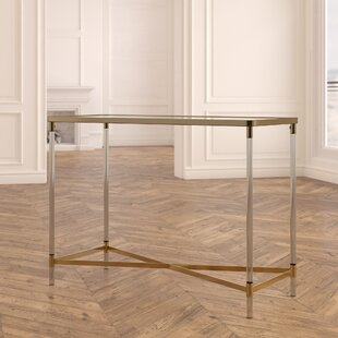 Ozzy Modern Rectangular Mirror Console Table by Everly Quinn
