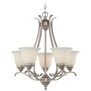 Review Pottersmoor 5-Light Shaded Chandelier By Darby Home Co