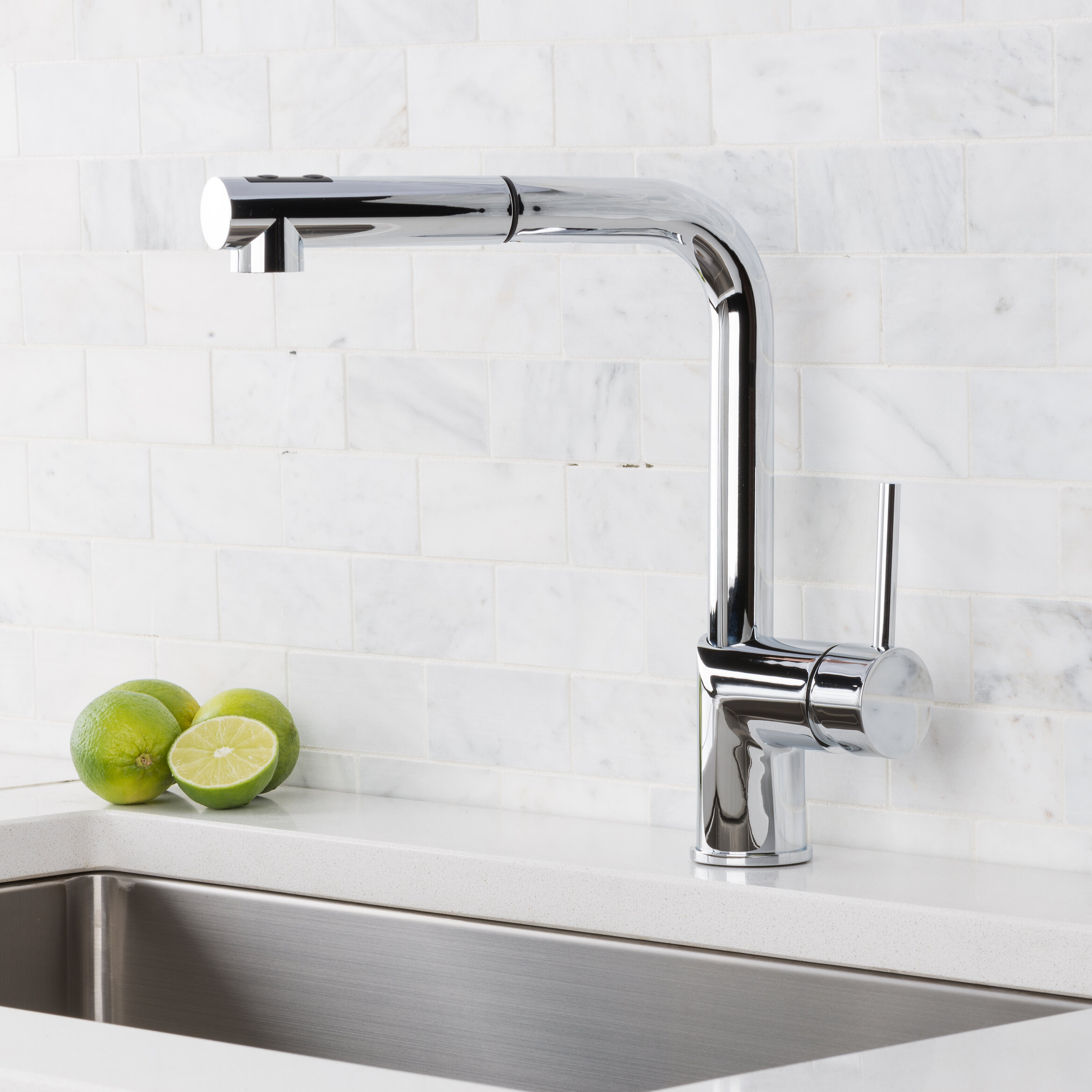 Hahn Pull Out Single Handle Kitchen Faucet Reviews Wayfair