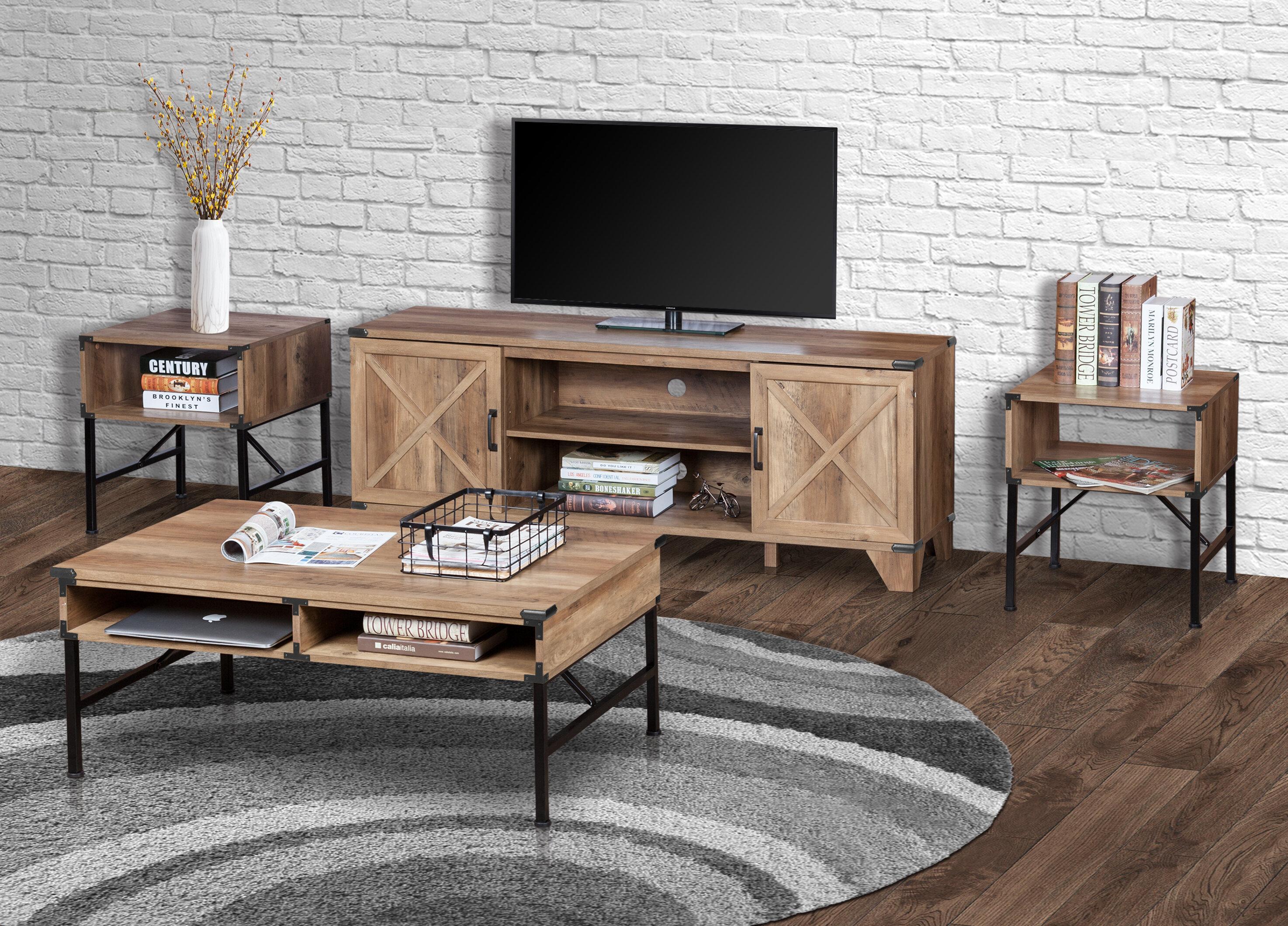 - Laurel Foundry Modern Farmhouse Johan 3 Piece Coffee Table Set