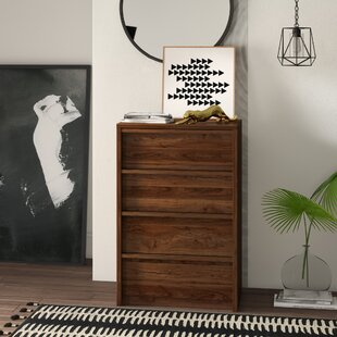 Posner 4 Drawer Chest by Mercury Row
