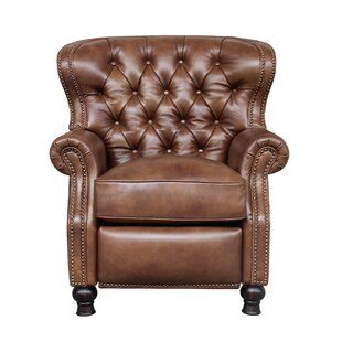 Reviews Coretta Leather Manual Recliner Darby Home Co
