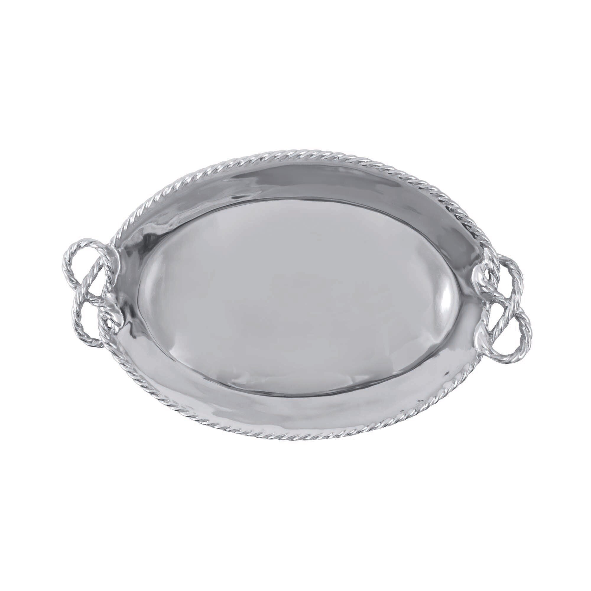Mariposa High Seas Rope Oval Serving Tray Perigold