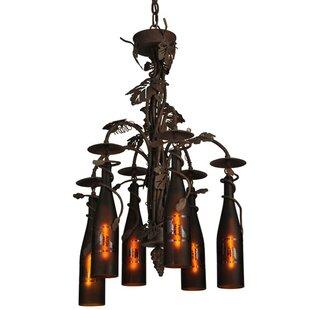 Tuscan Vineyard 6-Light Shaded Chandelier by Meyda Tiffany