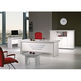 Truett Modern 5 Piece Desk Office Suite by Latitude Run No Copoun