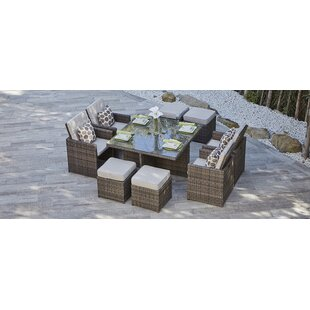 Saltville 9 Piece Dining Set with Cushions
