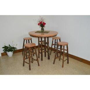Yorba 5 Piece Solid Wood Dining Set by Loon Peak