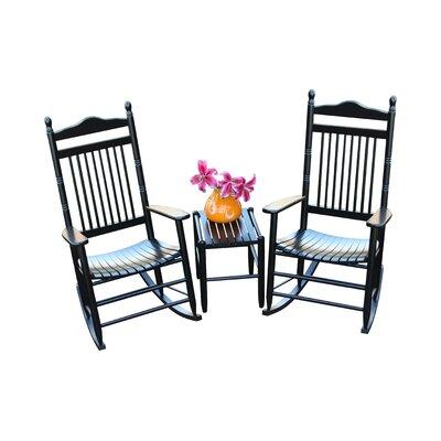 3 Piece Conversation Set Color: Black by Dixie Seating