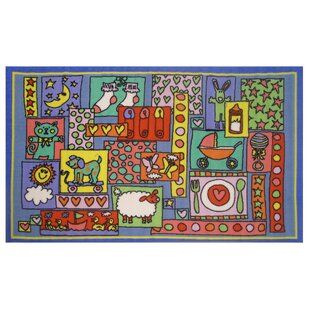 Read Reviews Fun Time Oh Baby Blue Area Rug ByFun Rugs