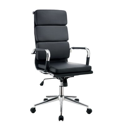 Brayden Studio Conference Chair Upholstery Color: Black