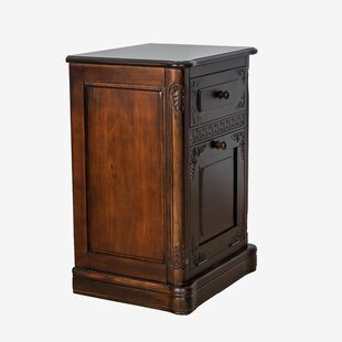 Allain Carved 1 Drawer and 1 Door Accent Cabinet